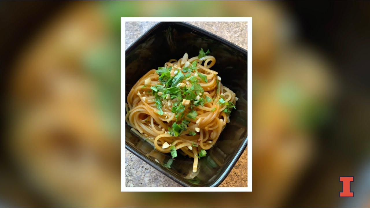 A screenshot from Beckman Café Recipe: Vegan Pad Thai