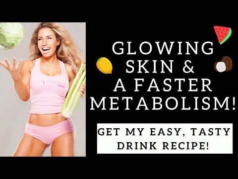 Get GLOWING SKIN & FASTER METABOLISM with INFUSED WATER Recipes!