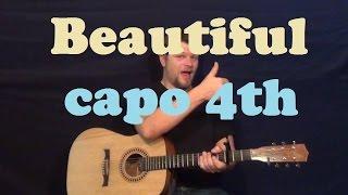 Beautiful Mariah Carey Easy Guitar Lesson How to Play Tutorial Chords Licks