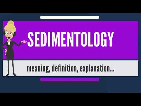 What is SEDIMENTOLOGY? What does SEDIMENTOLOGY mean? SEDIMENTOLOGY meaning & explanation