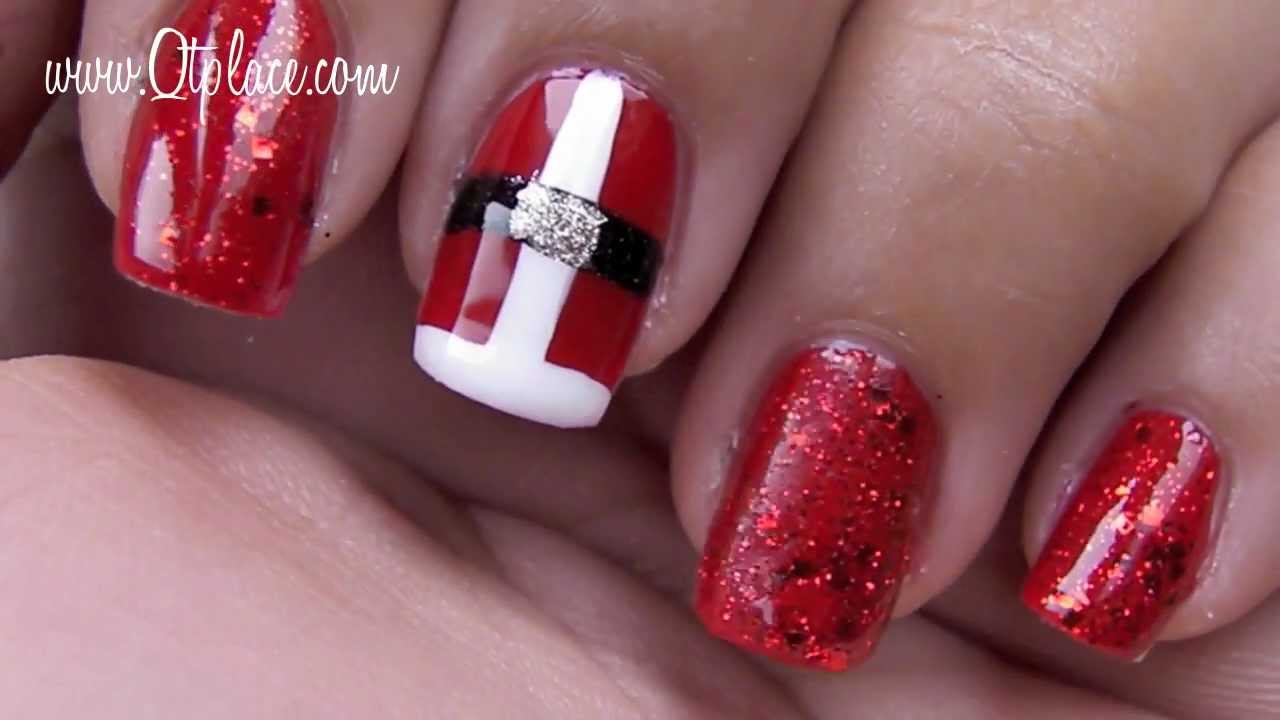 Christmas nails youtube prinsesfo Choice Image
