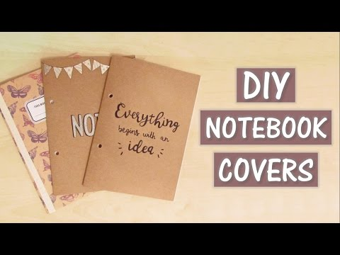 DIY Customised Notebook Covers | creaternet