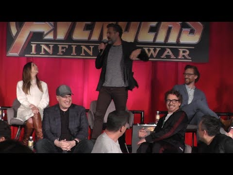 Fun AVENGERS: INFINITY WAR Press Conference in Los Angeles