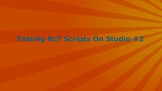 Roblox // Testing Rc7 Scripts On Studio #2