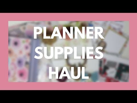 ETSY HAUL // Planner Clips, TN Supplies, and Sticker Kits!