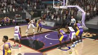 NBA LIVE 2004 GAMEPLAY FULL GAME (Los angeles lakers vs Toronto raptors)