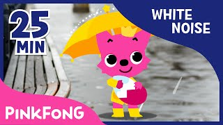rain sound with pinkfong   how to sleep better   white noise   pinkfong songs for children