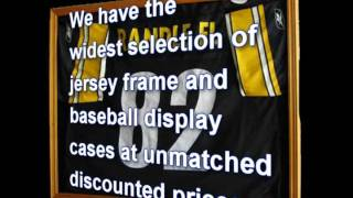 Jersey Frame And Baseball Display Cases