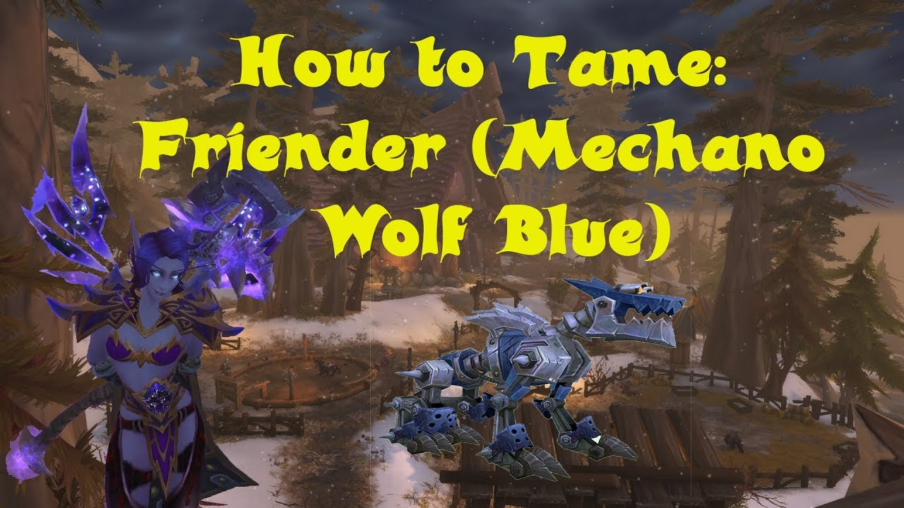 hunter pet friender mechano wolf blue non narration  [ 1280 x 720 Pixel ]