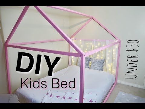 DIY WOOD BED FRAME *Under $50*