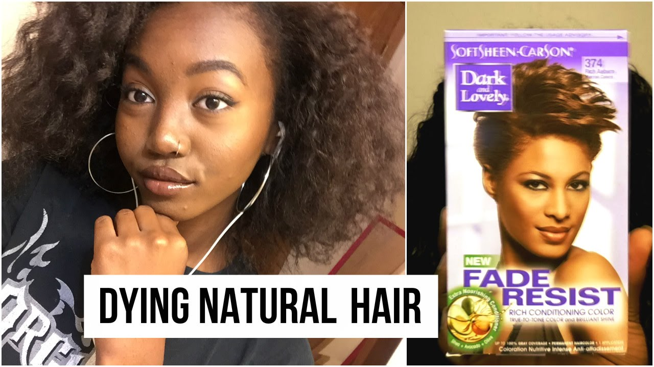 Dying My Natural Hair Dark Brown Ft Dark N Lovely 374 Rich