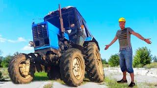 Трактор сломался Мальчик приехал на помощь починить. Видео про трактор для детей.