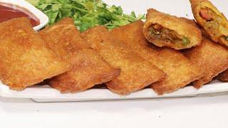 बहुत आसान तरीक़े से बनाये क्रिस्पी और स्वादिष्ट ब्रेड पॉकिट्स एक बार खायेंगे बार बार बनायेंगे |