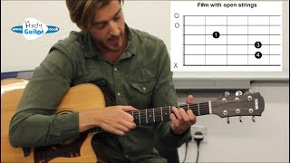 easier alternative to f#m barre chord - barre chord trick!