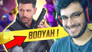 My first ever FREE FIRE WIN with HRITHIK ROSHAN and @Desi Gamers | RAWKNEE