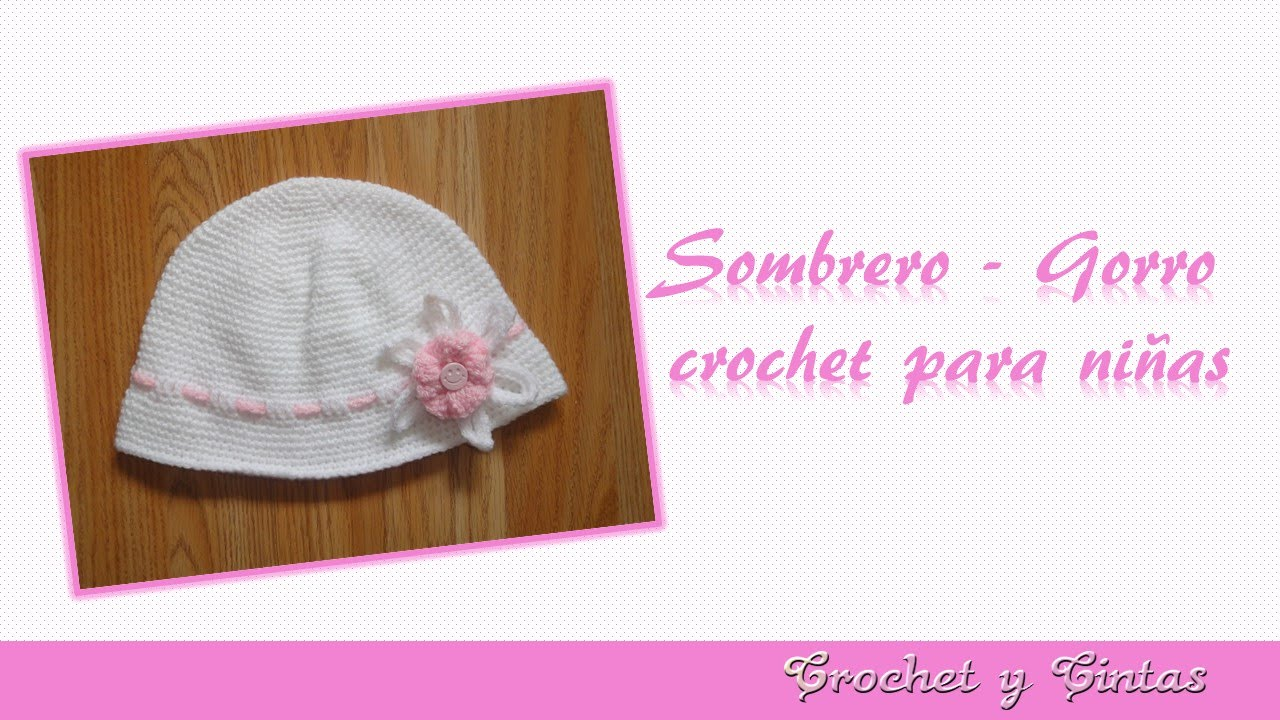 Sombrero verano crochet (ganchillo) con flor - YouTube