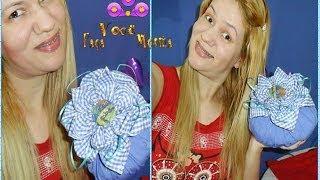Peso de Porta em Forma de Flor por Fabiana Araújo
