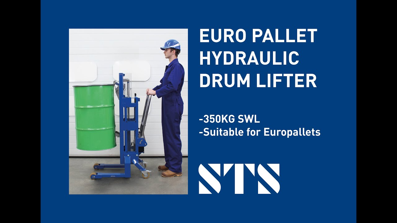 Euro Pallet Hydraulic Drum Lifter (Model: DTP06 R500)