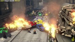 Lego Marvel Avengers: Lvl 6 / Avengers Assemble FREE PLAY (All Collectibles) - HTG