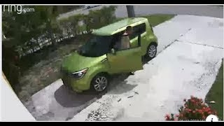 White Man takes a dump in Black mans driveway