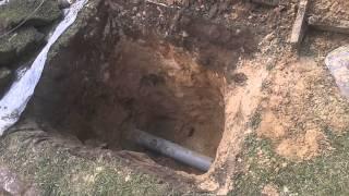 Прочистка наружной канализации в частном доме.