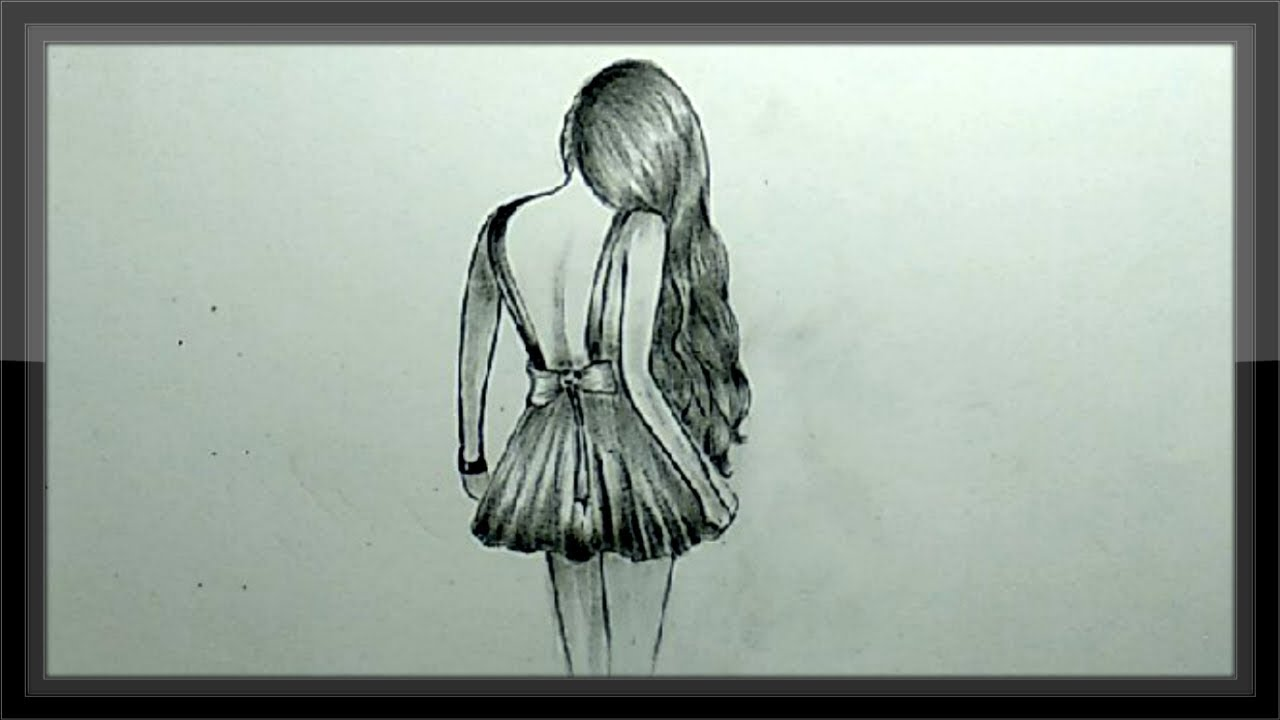 Cool pencil drawing a beautiful girl step by step easy