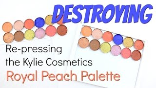 THE MAKEUP BREAKUP - Re-pressing the Kylie Cosmetic Royal Peach Palette