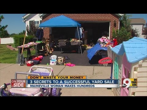 Three secrets to successful yard sale.