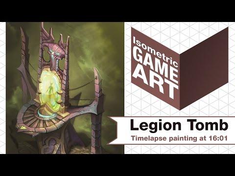 Isometric Game Art - Demon Tomb