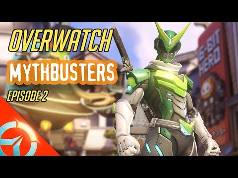 Overwatch Mythbusters Episode 2   Genji Deflect Continuously   How Mercy Damage Boost Work