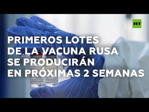 Primeros lotes de la vacuna rusa se producirán en próximas 2 semanas