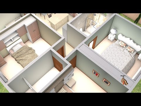 3d-three-bedroom-plan-and-american-kitchen