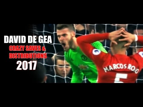 David De Gea - Crazy Saves & Distributions 2016/17 HD