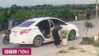 Người phụ nữ đi xe sang, trộm chậu hoa | VTC9