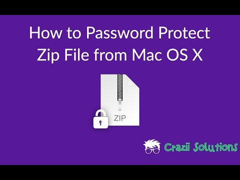 How to Password Protect a Zip File from Mac OS X Command Line