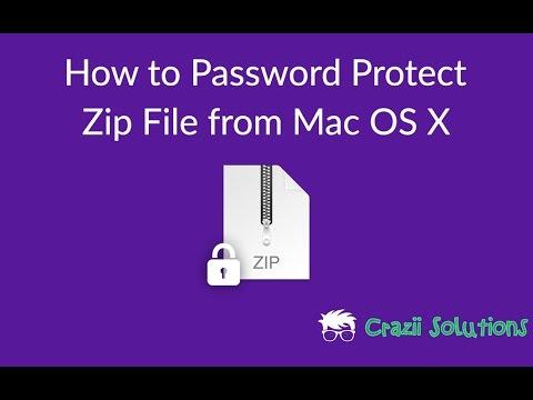encrypt zip file mac os x