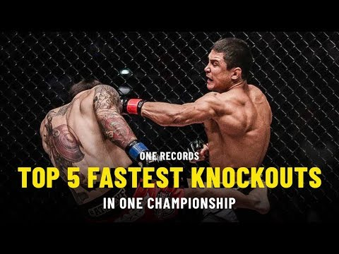 Top 5 Fastest Knockouts  ONE Records