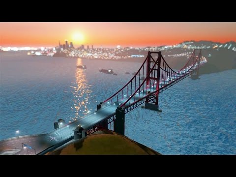 S.F. Bay Area in 2 Minutes - Cities: Skylines Hyperlapse