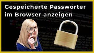 Gespeicherte Passwörter im Browser anzeigen 👉 OnlineDurchbruch.com