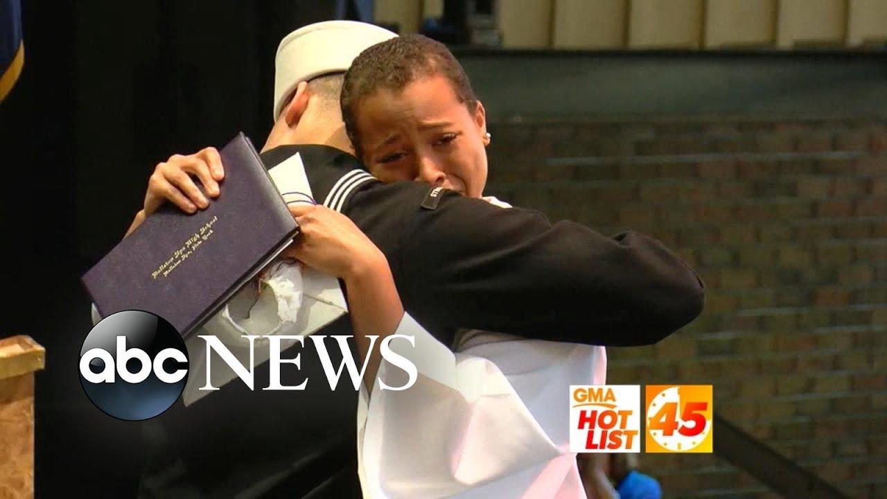 'GMA' Hot List: Sailor surprises sister at high school graduation
