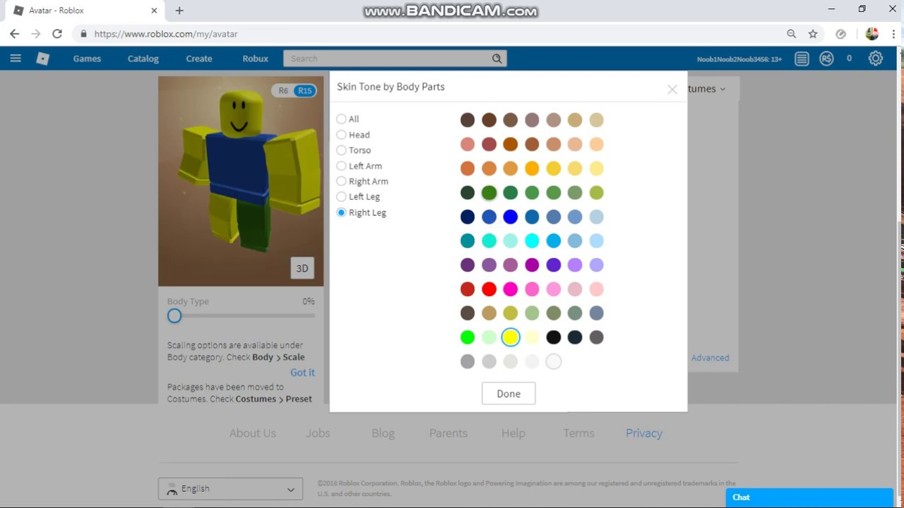 How To Make A Noob Skin In Roblox Youtube