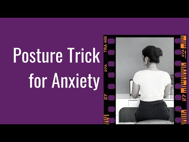 Reduce Anxiety With Posture Trick  (anxiety and posture) #shorts