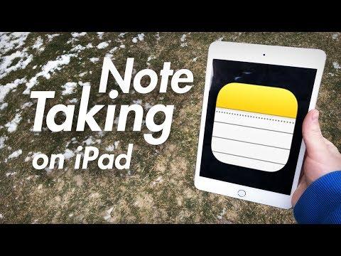 Taking Notes on iPad - Notes App on iPad