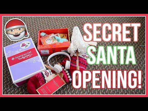 OPENING A SECRET SANTA PACKAGE! | American Girl Doll Secret Santa Gift Swap