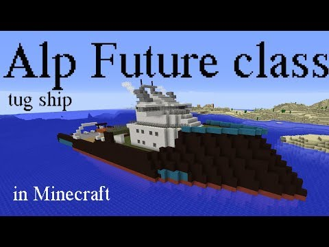 Giant oceangoing tug ship in Minecraft (Alp Future class)