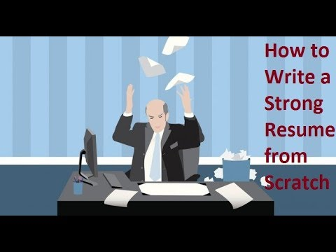 how to start preparing resume from scratch youtube