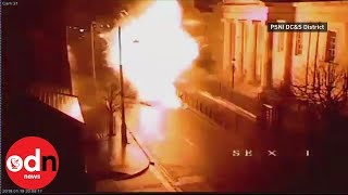 Police release CCTV footage of car bomb explosion in Londonderry