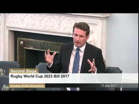 Seanad: Rugby World Cup 2023 Bill 2017  - 11th July 2017