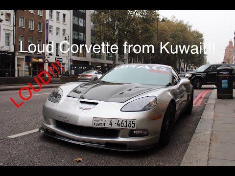 Corvette From Kuwait (Drag 965) Spotted On Sloane Street - Loud!! Revving!