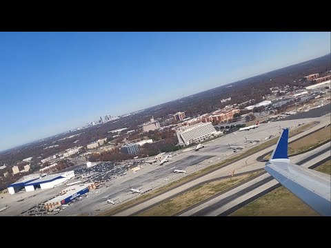 Delta CRJ-900 Sunny Takeoff From Atlanta ATL Hartsfield-Jackson International Airport